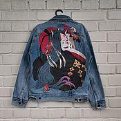 Одежда handmade. Livemaster - original item Painted denim jackets. Handmade.