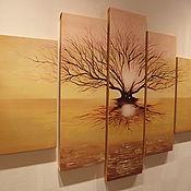 """Картины и панно ручной работы. Ярмарка Мастеров - ручная работа Картина """"Дерево на закате"""". Handmade."""