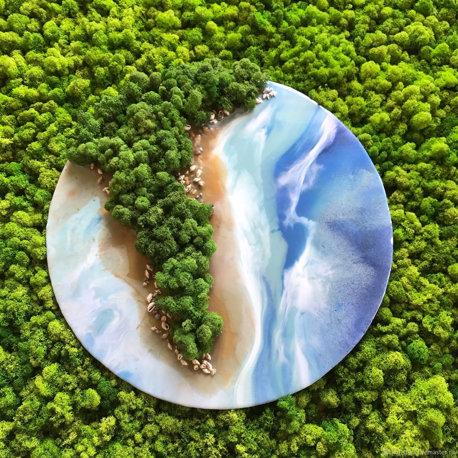 Moss and resin painting 60 cm, Pictures, Belgorod,  Фото №1