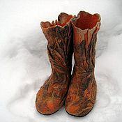 """Обувь ручной работы. Ярмарка Мастеров - ручная работа сапожки валяные  """"Карамель"""". Handmade."""