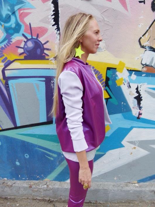 Верхняя одежда ручной работы. Ярмарка Мастеров - ручная работа. Купить Комбинированная куртка-бомбер. Handmade. Куртка, курточка