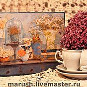 """Для дома и интерьера ручной работы. Ярмарка Мастеров - ручная работа Чайная шкатулка """"Воспоминание"""". Handmade."""