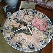 Для дома и интерьера ручной работы. Ярмарка Мастеров - ручная работа Часы настенные деревянные Роза Прованс W0367. Handmade.