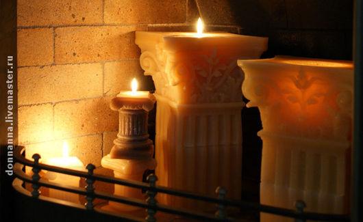 свечи в камине
