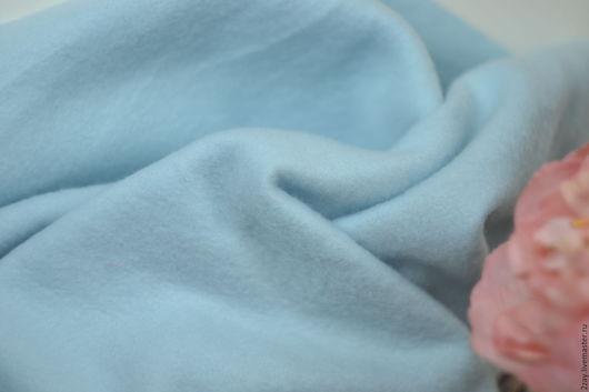 Куклы и игрушки ручной работы. Ярмарка Мастеров - ручная работа. Купить ФЛИС ПЛОТНЫЙ ГОЛУБОЙ (50х30 см). Handmade. Флис