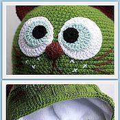 """Работы для детей, ручной работы. Ярмарка Мастеров - ручная работа Шапочка  """"Зеленый кот"""". Handmade."""