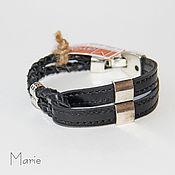 Украшения ручной работы. Ярмарка Мастеров - ручная работа Кожаный браслет. Handmade.