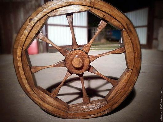 колесо деревянное диаметром 1 м.  Колесо для ландшафтного дизайна. Колесо деревянное купить