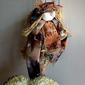 Народная кукла ручной работы. Ярмарка Мастеров - ручная работа Баба-Яга на метле. Handmade.