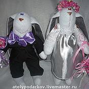Куклы и игрушки ручной работы. Ярмарка Мастеров - ручная работа Зайцы Жених  и Невеста. Handmade.