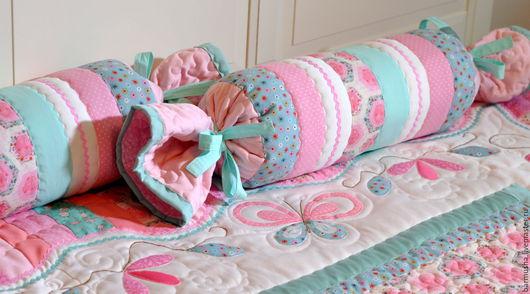 """Текстиль, ковры ручной работы. Ярмарка Мастеров - ручная работа. Купить Декоративные подушки к покрывалу """"Нежность"""". Handmade. Валик"""
