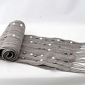 Аксессуары ручной работы. Ярмарка Мастеров - ручная работа Перламутровый шарф.. Handmade.