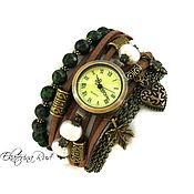 """Украшения ручной работы. Ярмарка Мастеров - ручная работа Часы наручные, """"Мудрое время""""  коричневые часы, женские. Handmade."""