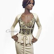 Одежда ручной работы. Ярмарка Мастеров - ручная работа Трикотажное платье Python/ gold. Handmade.