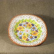 Посуда handmade. Livemaster - original item Ceramic Plate painted. Handmade.