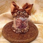 """Подарки к праздникам ручной работы. Ярмарка Мастеров - ручная работа Колокольчик """" С букетом роз"""". Handmade."""