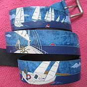 Аксессуары handmade. Livemaster - original item SAIL AWAY TOMORROW belt leather. Handmade.