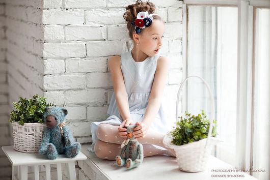"""Одежда для девочек, ручной работы. Ярмарка Мастеров - ручная работа. Купить Детское платье """"Морские прогулки"""". Handmade. Платье для девочки"""