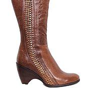 Обувь ручной работы handmade. Livemaster - original item Insulated boots with Golden details. Handmade.