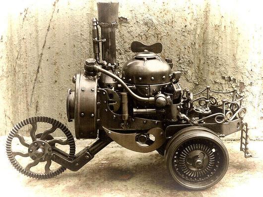 Письменные приборы ручной работы. Ярмарка Мастеров - ручная работа. Купить Steam trike. Handmade. Трицикл, латунь