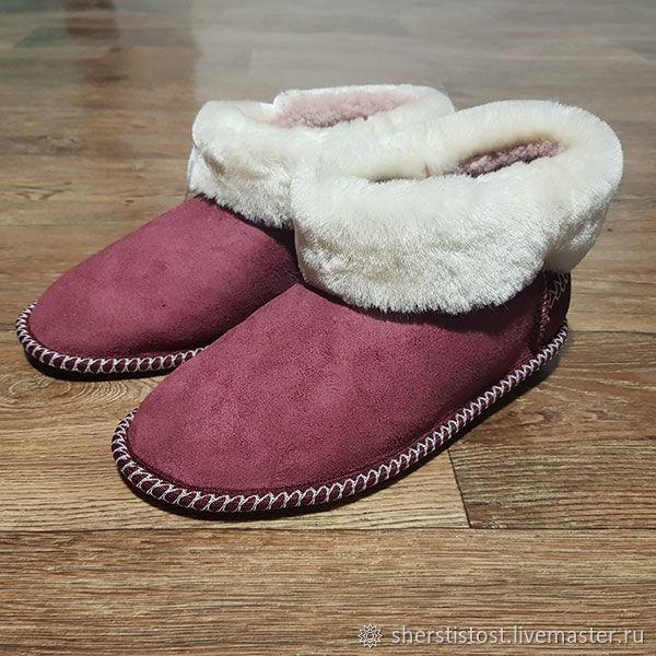 Slippers of natural sheepskin, Slippers, Nalchik,  Фото №1
