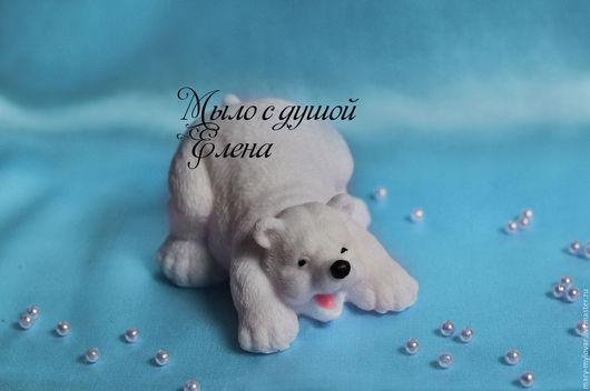 """Мыло ручной работы. Ярмарка Мастеров - ручная работа. Купить Сувенирное мыло ручной работы """"Белый медведь"""". Handmade. Белый"""