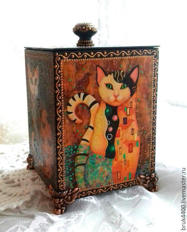 box 'Moonlight cats', Storage Box, Mariupol,  Фото №1