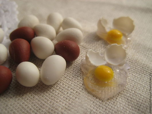 Еда ручной работы. Ярмарка Мастеров - ручная работа. Купить Кукольная миниатюра. Яйца!. Handmade. Миниатюра, еда для кукол, яйцо