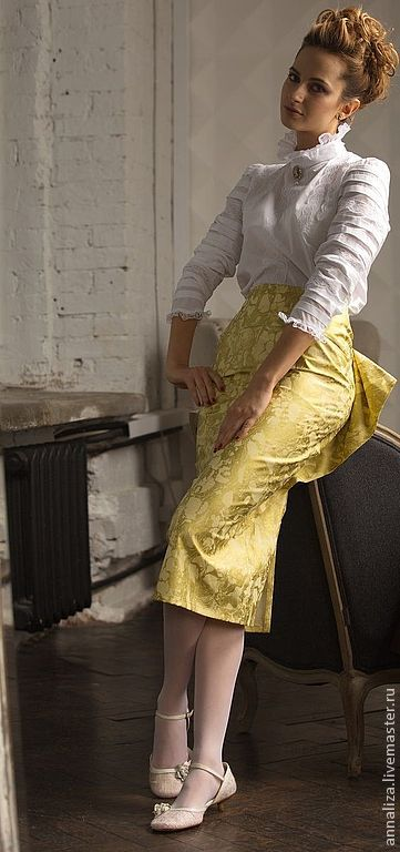 Skirt with bustle 'Neovintage', Skirts, Moscow,  Фото №1