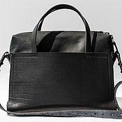 Сувениры и подарки handmade. Livemaster - original item Handmade leather handbag art 160 Cosm Old Black. Handmade.