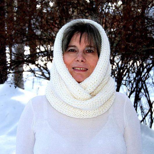 """Шали, палантины ручной работы. Ярмарка Мастеров - ручная работа. Купить Снуд-шарф """"Зимушка-зима"""" ( полушерсть). Handmade."""