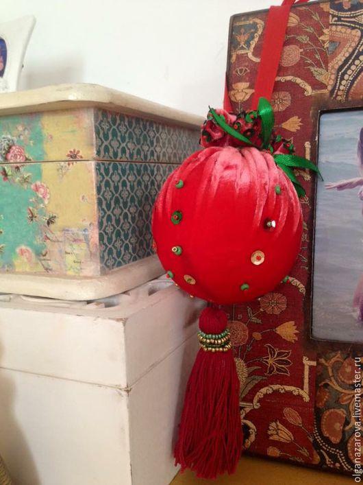 Новый год 2017 ручной работы. Ярмарка Мастеров - ручная работа. Купить Новогодние шары. Handmade. Ярко-красный, новогодние игрушки