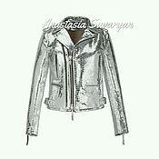 Одежда handmade. Livemaster - original item Luxurious jacket in genuine Python leather White Gold. Handmade.