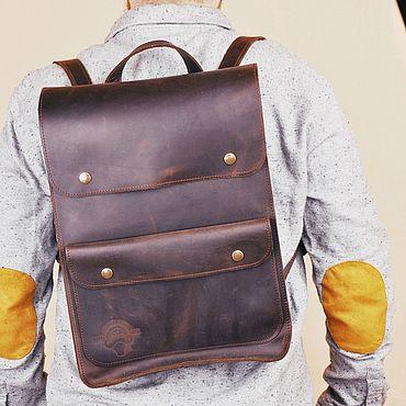 Сумки и аксессуары ручной работы. Ярмарка Мастеров - ручная работа Кожаный рюкзак Питер в кофейном цвете. Handmade.