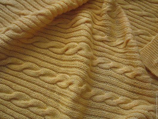 """Пледы и одеяла ручной работы. Ярмарка Мастеров - ручная работа. Купить Детский шерстяной плед """"Желтая нежность"""". Handmade. Лимонный"""