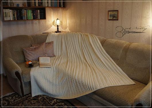 Текстиль, ковры ручной работы. Ярмарка Мастеров - ручная работа. Купить вязаный плед. Handmade. Вязание спицами, уютный дом