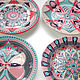 Set of plates 'Modern' hand painted 3 sizes to choose from. Plates. Art by Tanya Shest. My Livemaster. Фото №4