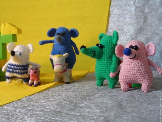Игрушки животные, ручной работы. Ярмарка Мастеров - ручная работа. Купить Мышки. Handmade. Комбинированный, вязание, ручная работа, холофайбер