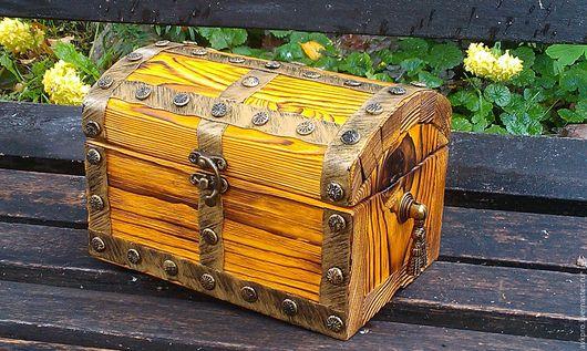 """Мебель ручной работы. Ярмарка Мастеров - ручная работа. Купить Сундук """"Мини 2"""". Handmade. Оранжевый, сундук под старину"""