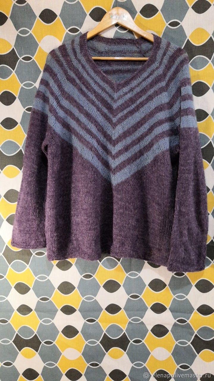 Пуловер из мохера на кокетке, Пуловеры, Переславль-Залесский,  Фото №1