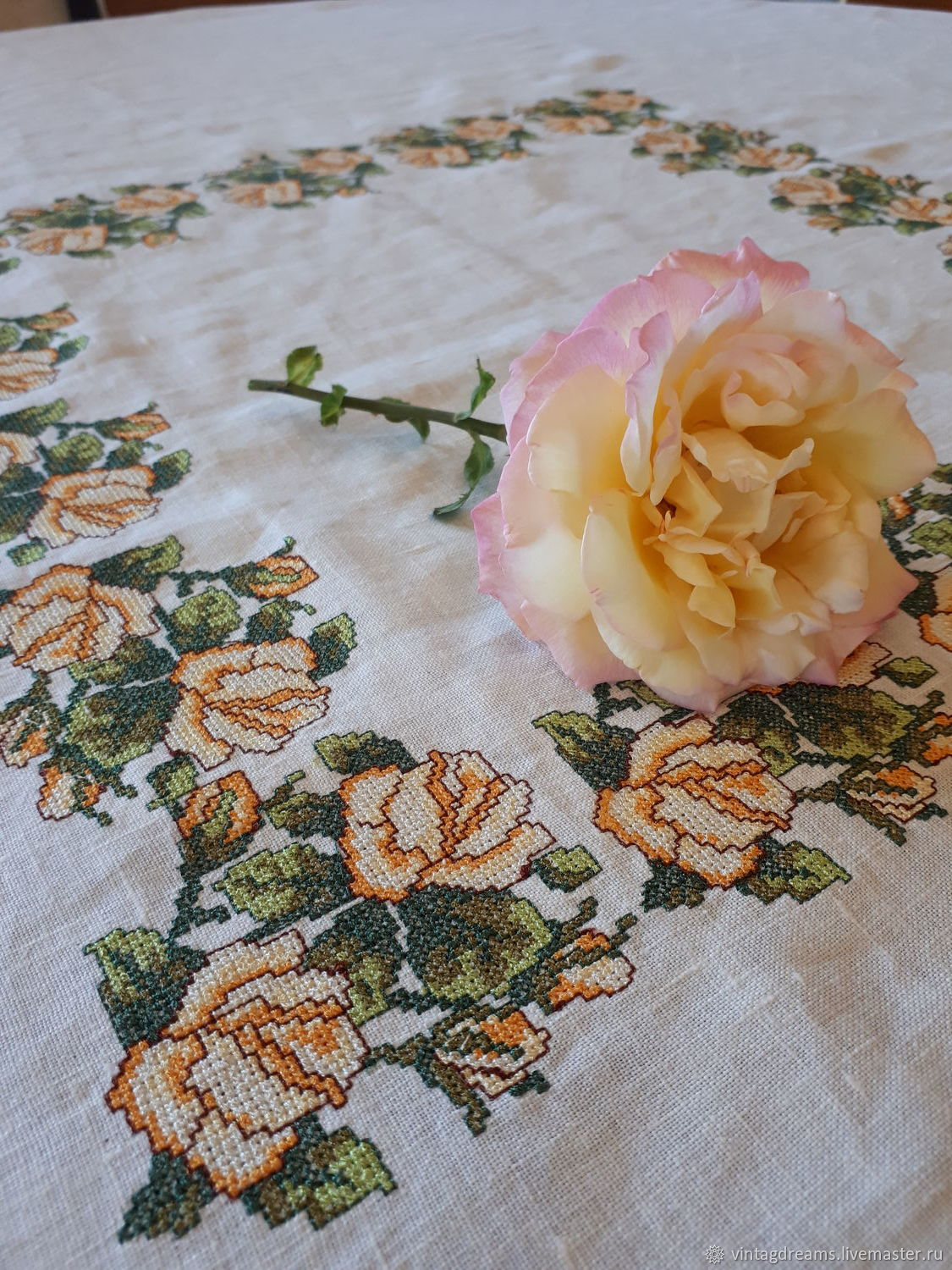 Tablecloth Yellow roses, Tablecloths, Rostov-on-Don,  Фото №1