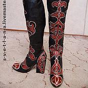 Обувь ручной работы. Ярмарка Мастеров - ручная работа Расписные сапоги. Handmade.