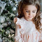 Платье ручной работы. Ярмарка Мастеров - ручная работа Платье для девочки из теплого хлопка Зефир. Handmade.