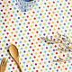 """Шитье ручной работы. Ярмарка Мастеров - ручная работа. Купить 0252 Ткань поликоттон """"Горошки"""". Handmade. Голубой, ткань хлопок"""