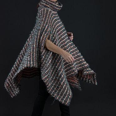 Одежда ручной работы. Ярмарка Мастеров - ручная работа Теплое пончо в стиле Бохо, из кашемировой шерсти - PN0697CK. Handmade.
