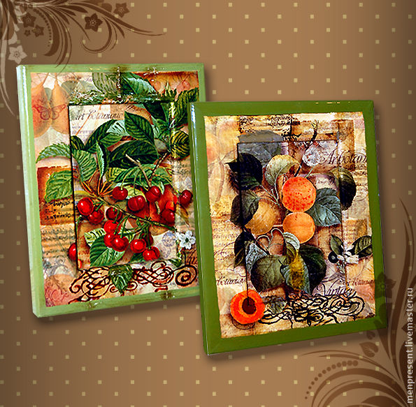 Still Life handmade. Livemaster - handmade. Buy Picture - panel 'Juicy fruit'.Gift, picture, gift girl