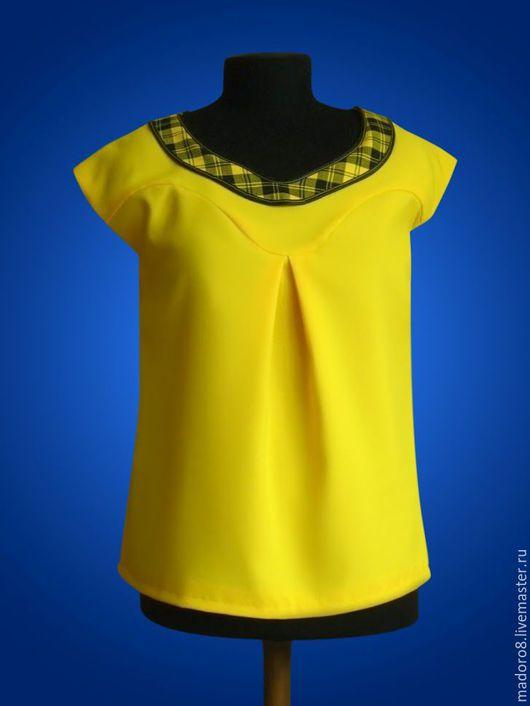 Блузки ручной работы. Ярмарка Мастеров - ручная работа. Купить Желтая туника. Handmade. Желтый, туника, лето, габардин