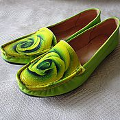 Обувь ручной работы. Ярмарка Мастеров - ручная работа Мокасины Лимонные Розы. Handmade.