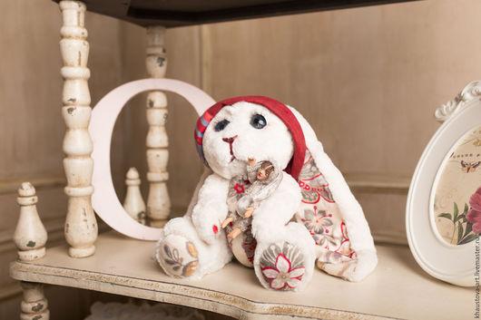"""Мишки Тедди ручной работы. Ярмарка Мастеров - ручная работа. Купить тедди зайка """"Детка"""" и в подарок ее любимая игрушка Тедди-долл Юленька. Handmade."""