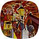 Часы для дома ручной работы. Ярмарка Мастеров - ручная работа. Купить Вечерний город. Handmade. Комбинированный, город, Витражная роспись